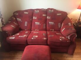 3-2-1 Suite of Furniture + Foot Stool sofa couch