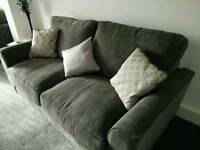 2 x 3 seat sofas practically brand new