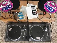 Technics SL 1210 boxed with 12 months service warranty in mint condition