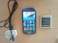 Samsung S3 mini. Unlocked with spare battery