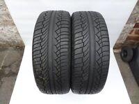 2x 225/55/18 Michelin Latitude Diamaris 98V a pair (5mm of tread) 2x 225 55 18