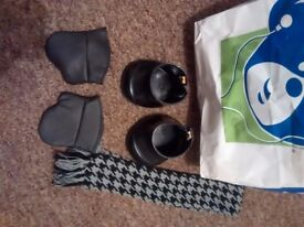 Build a bear boots gloves and scarf