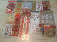 Job Lot-Christmas decorations, cards and holders, costume,hats,,sacks,tinsel tree lights, card