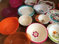 16 x Kids Plates and Bowls