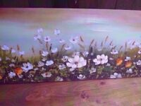 Canvas Paintings Flower Scene Delivery Available £5