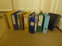 Selection of lever arch folders, FREE to good home or donation to charity