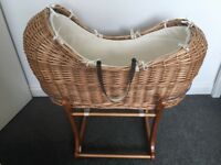 Mothercare 'the snug' Moses basket and stand