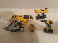 Dewalt tools tools and charger for sale