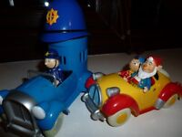 Noddy and Big Ears in Car with Policeman Plod in Police Car