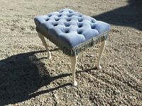 Blue Dressing Table Stool