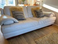 Leather Suite 3+2 seater Cream