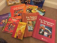 Mixed french and english books