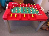 Childrens table football and other games
