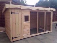 Dog kennel and run brand new large
