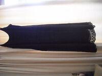 Black crepe dress new.