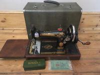 Vintage Singer Sewing Machine Model 15K80 (hand cranked)