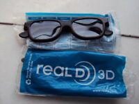 2 Pairs of Real D 3D Glasses