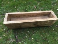 Hand Made Long Solid Wood Planter