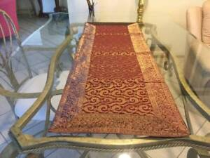 Table Runner - Red and Gold Ornate Embroidery
