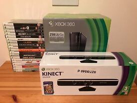 Xbox 360 250GB with Kinect and 20 Games