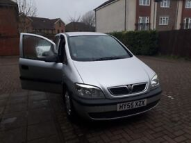 Vauxhall Zafira 1.6 Silver 2005; good condition, a great family car; MOT until 4th April 2018