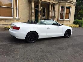 Audi A5 2.0 convertible tdi white 19inch rotors px welcome