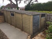 FREE! LARGE SINGLE CONCRETE GARAGE UP AND OVER DOOR, REAR PERSONAL DOOR AND TWO WINDOWS. FREE!!