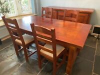 John Lewis Bergerac French Oak Extending Dining Table and Six Chairs