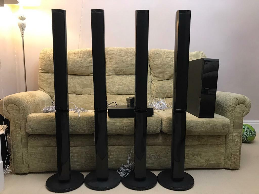 Pioneer 3D Blu-ray Surround sound system with floor standing speakers