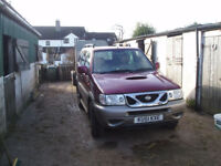 Nissan Terrano II 4X4 in Burgundy used lightly on farm to market 11 months MOT market and back
