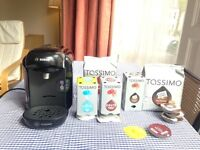 Tassimo Coffee Machine with 43 various Coffee Capsules
