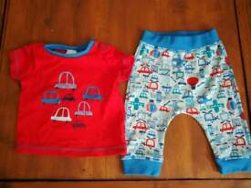 Top & legging outfit - 3-6m old