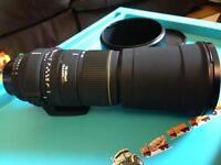 Sigma 170-500 mm mount Nikon