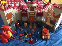 Imaginex castle and various accessories