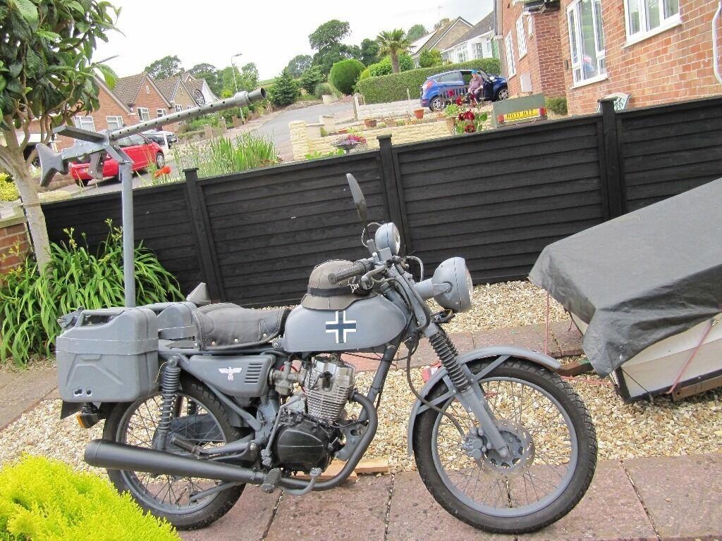 Honda Cg 125 Clone German Ww2 Replica Motorcycle 125
