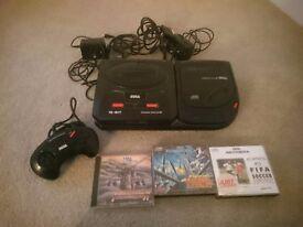Sega mega cd 2 and games