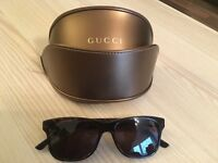 Gucci Rectangular frame Web sunglasses - with a box, black (rrp £290)