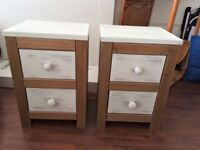 PAIR SOLID PINE BEDSIDE CABINETS 6 MONTHS OLD