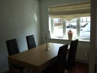 Oak Dining Room Set - Table, 6 Chairs, Sideboard & Mirror