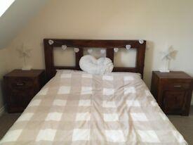 Indian Rosewood bedroom furniture.