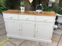 Solid Pine Painted Sideboard Cabinet