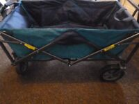 Collapsable Camping trolley,wheeled with handles and bag/cover,used but in great condition