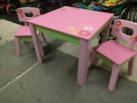 ELC children's wooden table and chairs