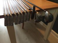 WILSON FAT SHAFT IRONS AND WOODS