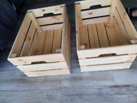 Wooden Crate Versatile Wood Shelf Storage Baskets Pine Box