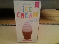 A Little Lovely Ice Cream Light LED Lamp Pink £5