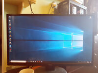 Gaming PC with 27 inch monitor full HD 1080p graphics windows 10