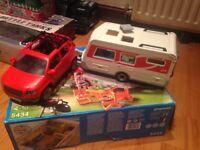 Playmobil caravan with free car