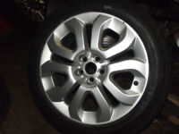 7.5 inch X 17 inch ALLOYS WHEELS AND TYRES MG6 MGZT ROVER 75 FLAME STYLE