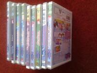 9 x Peppa Pig DVD'S & a Peppa Pig DS Case for sale